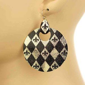 Accessories - SAINTS SALE⚜️ Fleur De Lis Earrings New Orleans 🏈